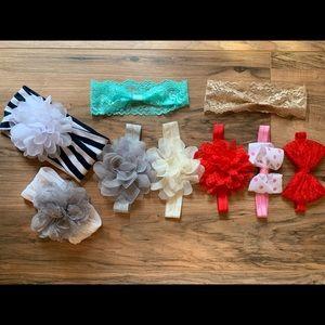 Head wrap bows